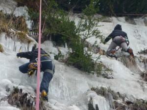 12 Découverte de l'escalade sur glace février 2015