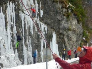 13 Découverte de l'escalade sur glace février 2015