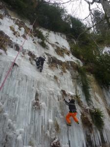 14 Découverte de l'escalade sur glace février 2015