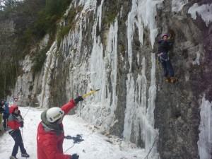19 Découverte de l'escalade sur glace février 2015
